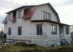 дом из пенополистирольных блоков