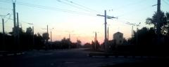 Раннее утро на ул. Гражданской в Чебоксарах