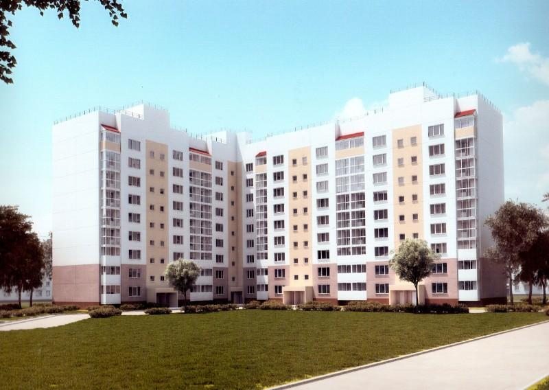 Эскизный проект 9-этажного дома, строительство которого запланировано в микрорайоне «Соляное»