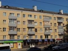 Отремонтированный фасад дома 29 по пр. Ленина