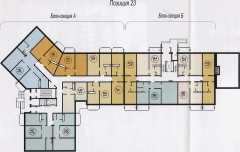 план размещения квартир в Альгешево, поз. 23