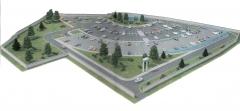эскизный проект комплекса автостоянок в 6-м микрорайоне ЮЗР по ул. Чернышевского