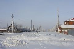 деревенская улица зимой
