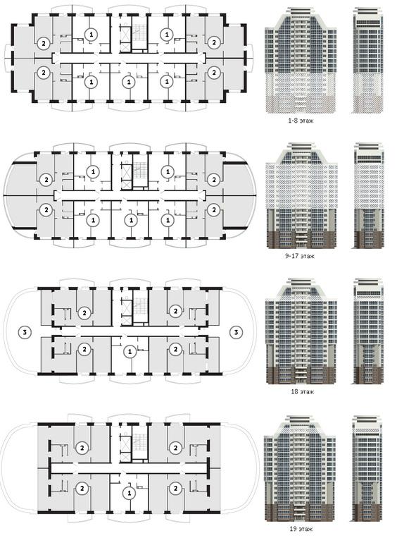 Гайдара 5, планировка